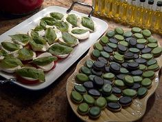 Caprese Salad & Mini Olive Sugar Cookies
