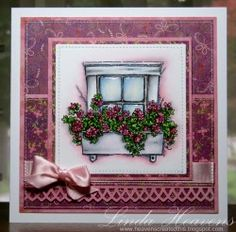 Stamping Bella - rustic window box