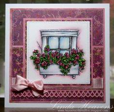 Stamping Bella - rustic window box