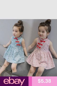 Dresses #eBay Clothing, Shoes & Accessories Cotton Frocks For Kids, Frocks For Girls, Little Girl Dresses, Kids Dress Shoes, Girls Bridesmaid Dresses, Kids Frocks Design, Baby Wearing, Kids Girls, Baby Dress