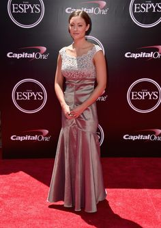 Soldier Elizabeth Marks attends the 2016 ESPYS at Microsoft Theater on July 13, 2016 in Los Angeles, California.