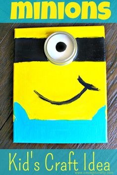 If you have a mini Minion in your house, then this is an easy Minions kid's craft you can do this week!