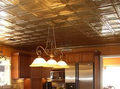 Tin ceilings are popular especially in kitchens but because of the moisture environment, we recommend Aluminum over Tin Plated Steel.  View more images for ideas as well as installation instructions and available samples.