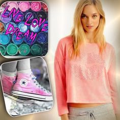 AEROPOSTALE JR XLLIVE LOVE DREAM DORM TEE LIVE LOVE DREAM Pop on our LLD Long Sleeve Shine Lips Boxy Crop Tee and pucker up, 'cause gal, you're gonna look amazing in that selfie! This soft, comfy top boasts a bright neon backdrop and light-catching rhinestones that form a sassy pair of smackers. My pics are the actual vibrant color of the tee  LIVE LOVE DREAM Tops