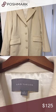 Winter white coat Beautiful coat, brand new never been used.  Winter white Ann Taylor Jackets & Coats