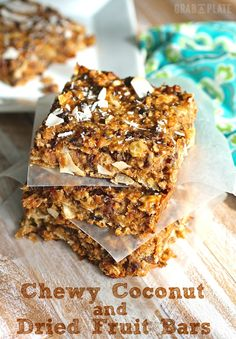 Chewy Coconut and Dried Fruit Bars are rich and decadent, but made with healthy ingredients, they won't ruin your healthy eating habits.