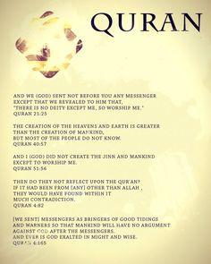 Quran, the word of GOD #quran, #islam, #Allah, #Muslim
