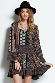 Challie Peasant Dress