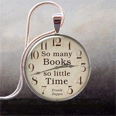 So Many Books, So Little Time pendant, Book lover necklace charm, Book jewelry, Book quote on Etsy, $9.25