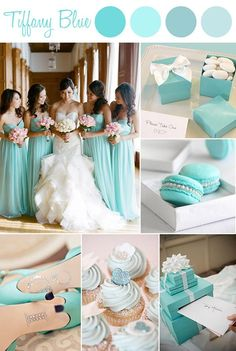 elegant Tiffany themed wedding color ideas