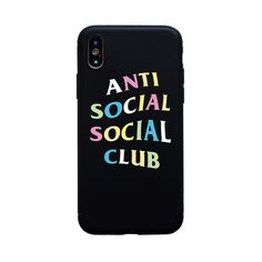 237829715de7 Anti Club Soft Funda Coque For Iphone ASSC Social Case