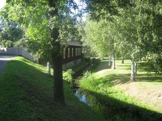 Rauma river at Unesco World heritage site Old Rauma, Finland