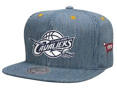 Cleveland Cavaliers Engineer Stripe Strapback Cap by MITCHELL   NESS x NBA 3dcfc75021057