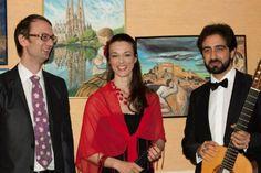Von links nach rechts: Matthias Wunsch(Bildende Kunst), Maja Fluri(Sopran und Salonière), Giuseppe Chiaramonte(Klassische Gitarre)