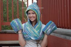 Scoodie - Hooded Scarf With Pockets..Rated easy to make,and has a free pattern!...A very useful present!!