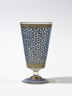 Goblet, Paris, designed and decorated by Philippe-Joseph Brocard for Brocard glassworks, 1873-1878.