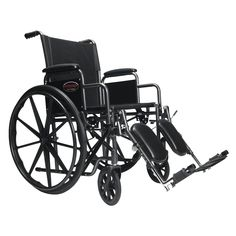 Everest & Jennings Advantage Wheelchair With Desk Arm and Elevating Footrest - Black