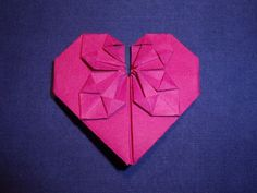 A complete tutorial of making a #Serce #origami / #Origami #heart