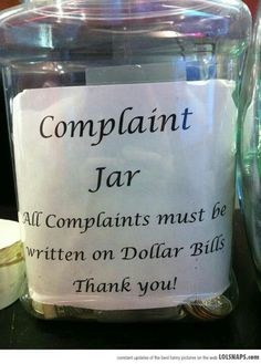 Line up the complaint line!