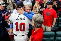 Chipper Jones and his Dad, Larry Jones.