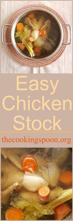 An easy recipe for home made Chicken Stock, from scratch. With zero effort.  thecookingspoon.org