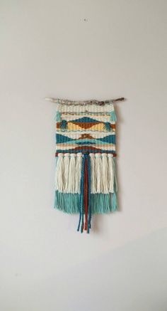 Your place to buy and sell all things handmade Tapestry Weaving, Loom Weaving, Hand Weaving, Weaving Projects, Macrame Projects, Geometric Art, Geometric Designs, Textiles, Art Textile