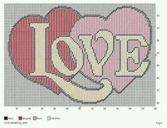 plastic canvas Love Hearts Wall Hanging pattern