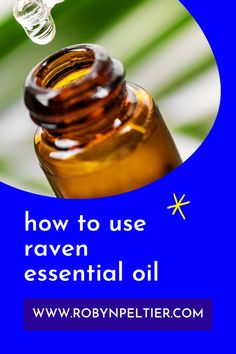Raven essential oil is amazing for your respiratory system. Lean all its benefits and how to use it on this post. It's super helpful. #aromatherapy #essentialoils #respiratory Raven Essential Oil, Natural Essential Oils, Young Living Essential Oils, Natural Oils, Ravintsara, Essential Oil Diffuser Blends, Respiratory System, Healthy Living Tips, Natural Living