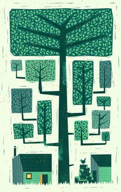 Woodpile by Peter Donnelly, via Behance