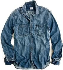 Denim button up-all day!