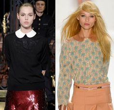 Summer 2012 fashion trend: The 60s Pan Collar.