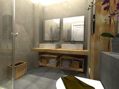 #Baño #moderno #decoracion via @planreforma #accesorios #iluminacion #espejos…