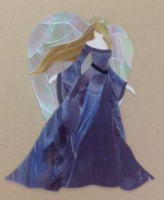 "Precut Stained Glass Art Kit Angel Mosaic Inlay Garden Stone Handcrafted 10 5x8"" | eBay"