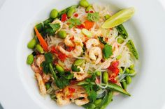 Tryout Wednesday: Fitnessguru-Pasta ohne Kalorien Zero Calorie Noodles, Edamame Beans, Pasta, Sesame Oil, Wok, Cilantro, Paleo Recipes, Risotto, Cooking