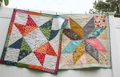 Christmas quilts made by Amy Smart including patterns and tutorials such as the Holiday Patchwork Forest, modern improv tree quilt block. Quilt Baby, Baby Quilt Patterns, Quilting Patterns, Baby Quilt Tutorials, Quilting Tutorials, Quilting Projects, Sewing Projects, Quilting 101, Machine Quilting