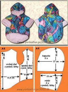 Dog Coat pattern Dog clothes patterns for sewing Small dog clothes pattern Dog Jacket Pattern PDF Small Dog Clothes Patterns, Dog Coat Pattern, Dog Items, Puppy Clothes, Doll Clothes, Dog Jacket, Dog Sweaters, Dog Dresses, Dog Coats