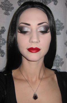 Make up: Morticia Addams inspired