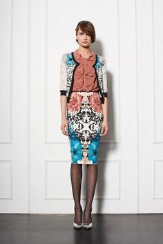 pencil skirt trend 2014 | Pinko Autumn-Winter 2013-2014 Women's Lookbook | The Fashion Lovers