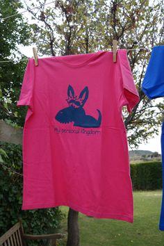 Acogedora camiseta modelo scottish