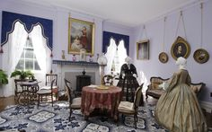Vanderpoel House of History - example of a parlor from the 1860s.