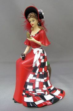 "Coca-Cola - ""Refreshment of Coca Cola"" - Incredibly Energizing Lady Figurine"