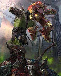 #IronMan #HulkBuster #Hulk