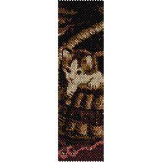 Kitten in Basket Peyote Bead Pattern, Bracelet Pattern, Bookmark Pattern, Seed Beading Pattern Delica Size 11 Beads - PDF Instant Download by SmartArtsSupply on Etsy