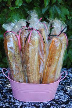 Fun French bread display