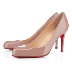 SIMPLE PUMP PATENT 85 mm, Patent leather, nude, pumps, womens shoes