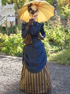Handmade and historically researched Victorian dress.