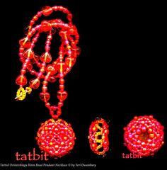 TATtle TALES Tatting Patterns: Rosetted Eye Candy: Folded Beaded Tatting - All design, tatting, beading by Teri Dusenbury.