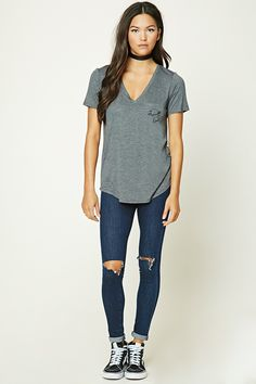 Lost Graphic V-Neck Tee