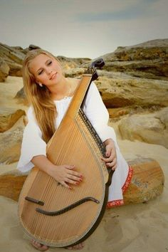 Girl and Bandura, Ukraine, from iryna with love
