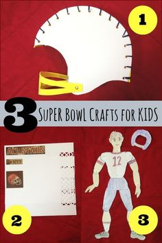 Create 3 awesome Super Bowl projects. | football kids crafts
